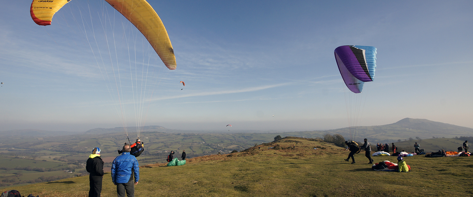 Kieran Rae Offa Offas Dyke Wales Hang Gliding