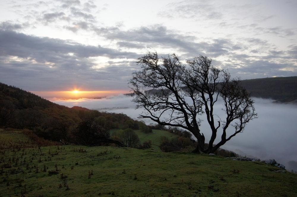 Kieran Rae Panorama Fog Sunrise Wales
