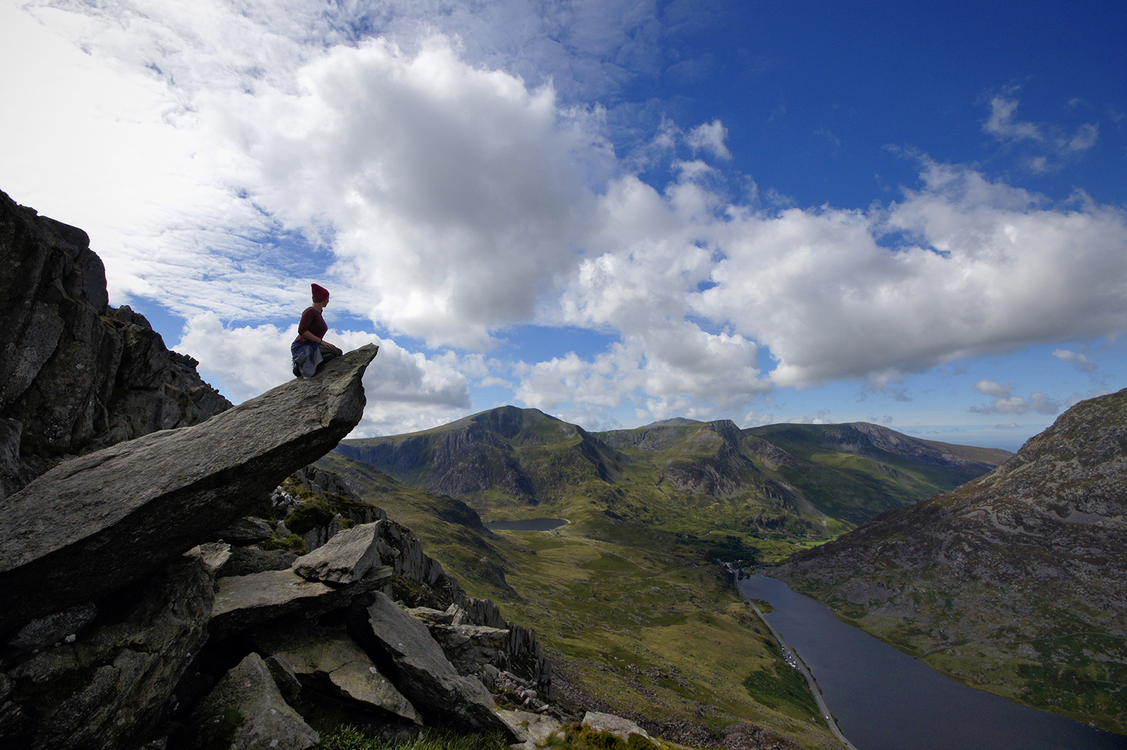 Kieran Rae Tryfan Glyderau Glyder Ogwen Valley Snowdonia Wales Cannon Stone Portrait