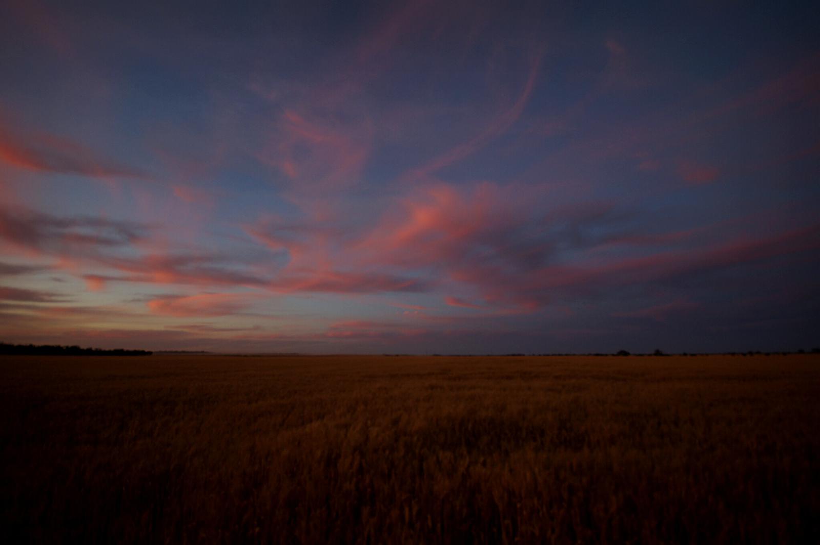 Kieran Rae Borderwalk Outback Australia Sunset Field