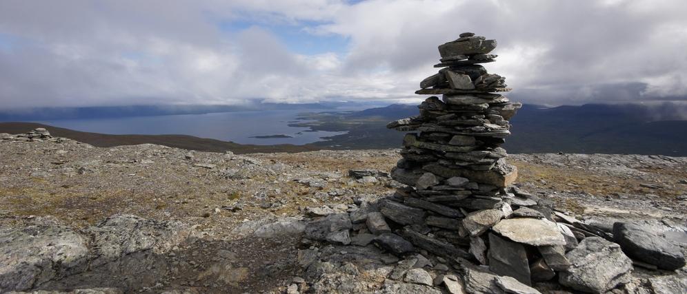 Kieran Rae Abisko Sweden Lapland Cairn Hike