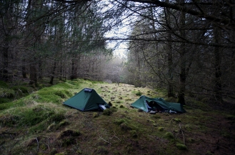 Kieran Rae West Highland Way Camping Wood Forest Tent Scotland
