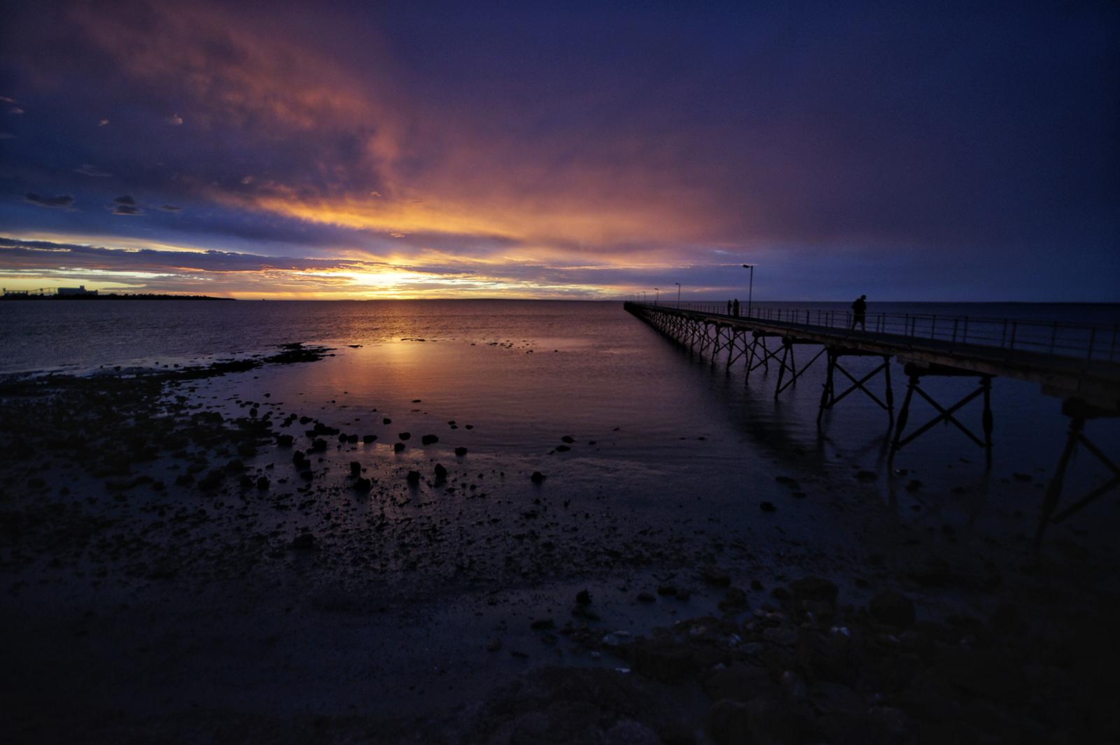 Kieran Rae Borderwalk Outback Australia Ceduna Murat Bay Sunset Ocean