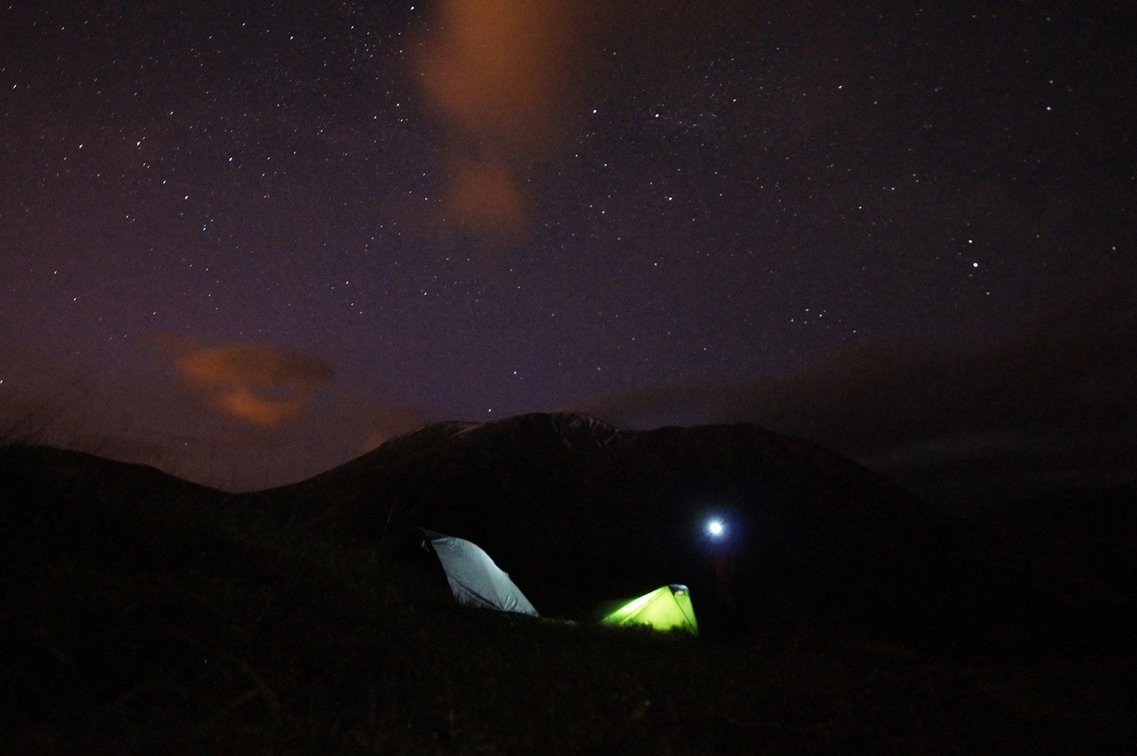 Kieran Rae Camping Night Stars Ben Nevis West Highland Way Scotland