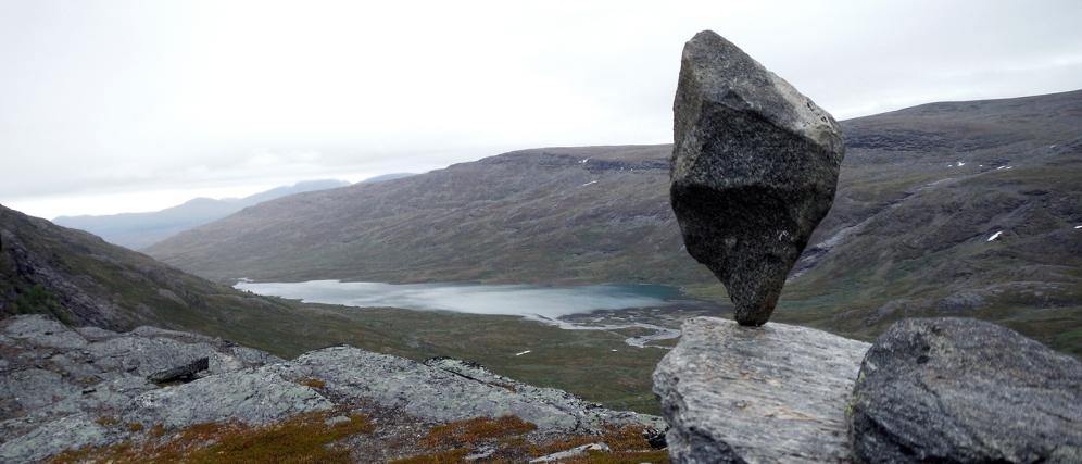 Kieran Rae Abisko Sweden Lapland Rock Balance