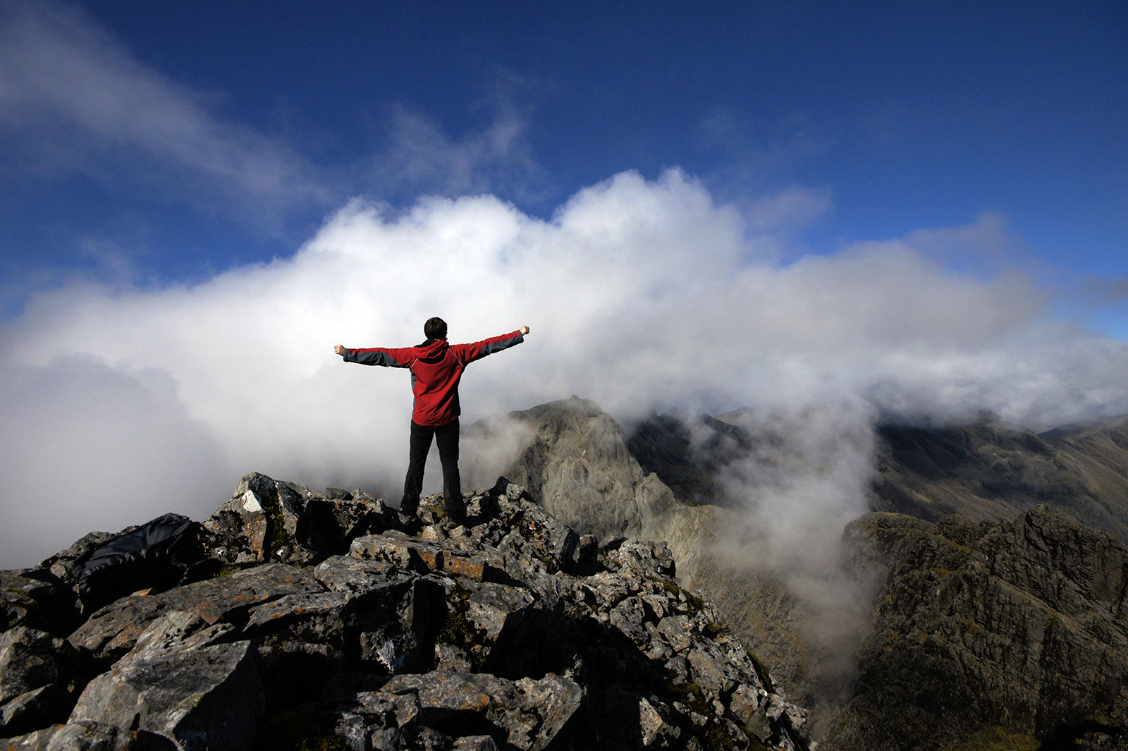 Kieran Rae Skye Black Cuillin Scotland Portrait Mountain Summit