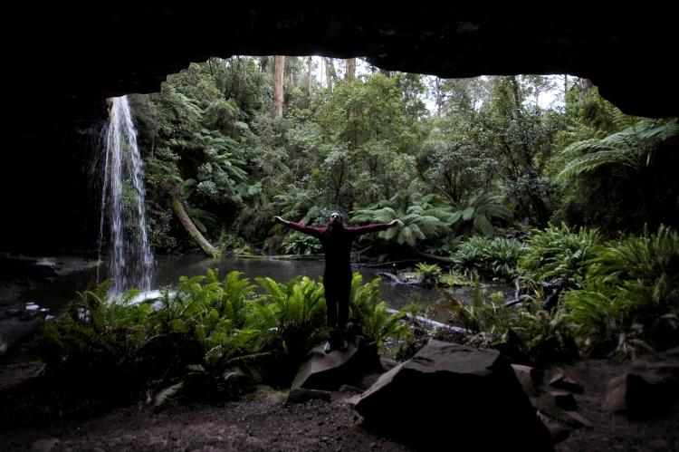 Kieran Rae Otway Rainforest Jungle Waterfall Lower Kalimna Falls Victoria Australia Portrait
