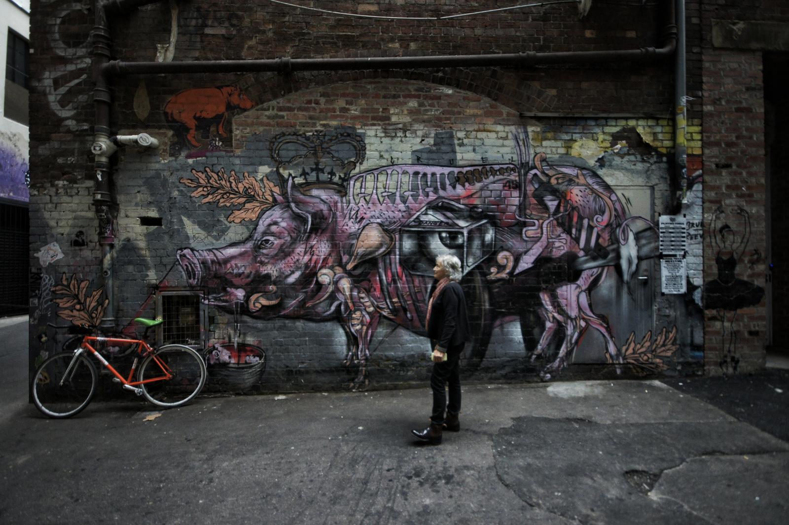 Kieran Rae Melbourne Australia Hosier Lane Street Art Graffiti