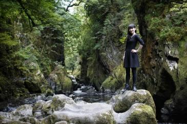 Kieran Rae Fairy Glen Wales River Gorge Portrait Model