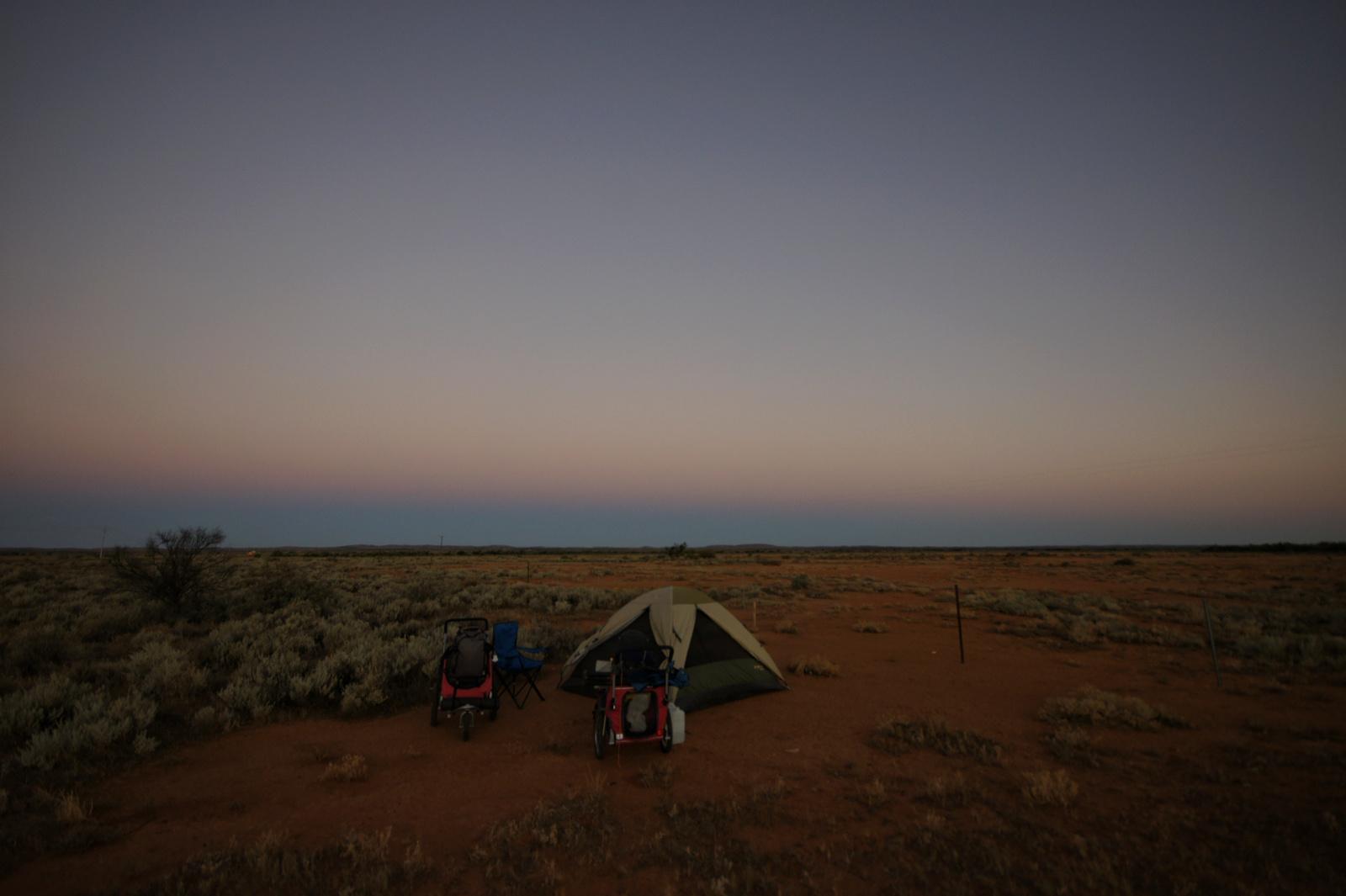 Kieran Rae Borderwalk Australia Outback Desert Camping