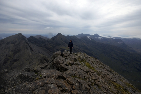 Kieran Rae Skye Black Cuillin Mountain Ridge Scotland Portrait