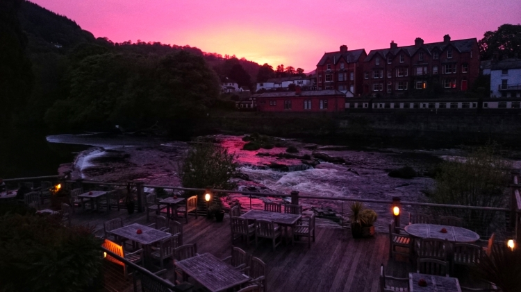 Kieran Rae Llangollen Wales Cornmill Pub Sunset Decking