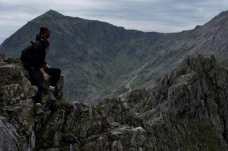 Kieran Rae Wales Crib Goch Ridge Snowdon Snowdonia Climbing Model Portrait