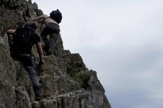 Kieran Rae Wales Crib Goch Snowdon Snowdonia Climbing