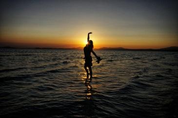 Kieran Rae Wales Harlech Beach Sea Sunset Model Portrait