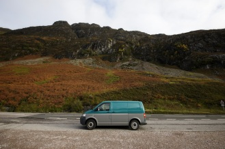 Kieran Rae VW Volkswagen Transporter T5 Scotland Three Sisters