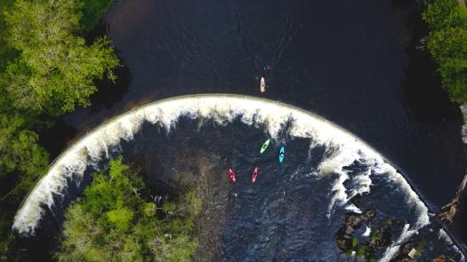Kieran Rae Dee Valley Llangollen Horseshoe Falls Kayak Wales